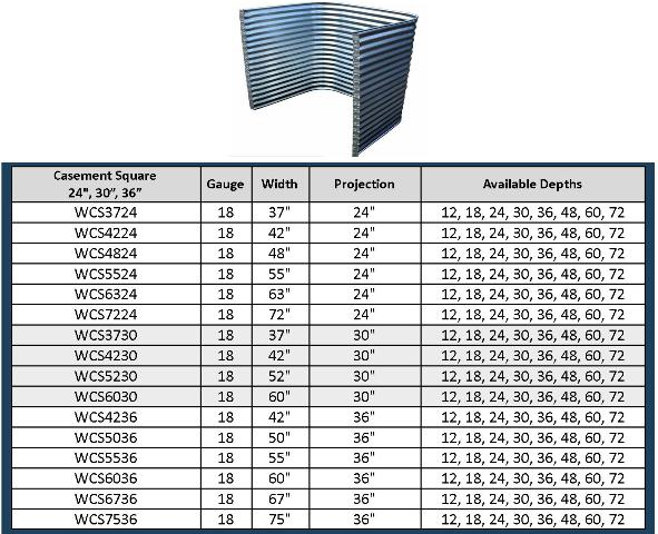 Window Sizes Standard Systems Tap Timer Instructions