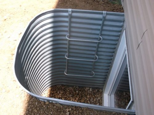 galvanized steel egress ladder