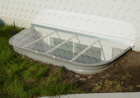 House Side Flat Window Well Cover