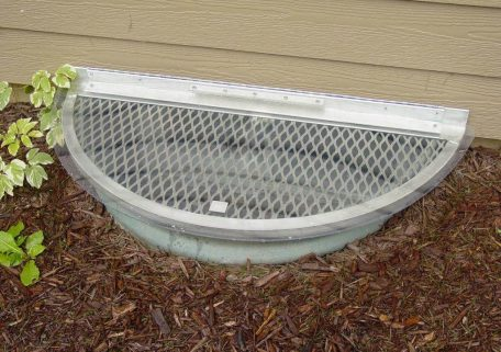 Semi-Circle Metal Grate with Clear Top Cover