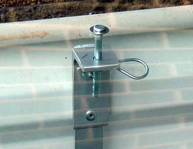 Metal Window Well Lock
