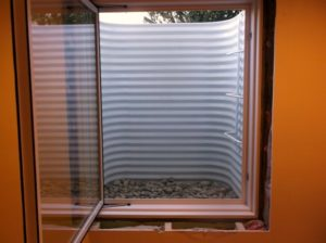 Galvanized steel white painted window well