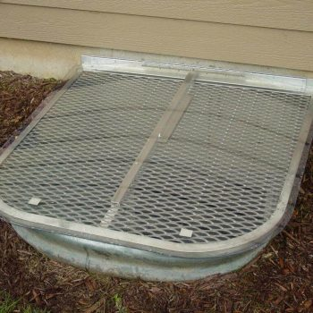 medium-sized metal grate with clear top cover