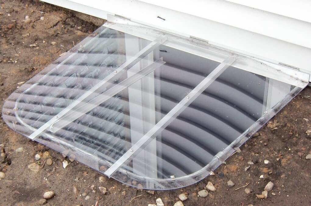 Hinged Egress Window Well Covers With, Basement Window Side Mount Hinges