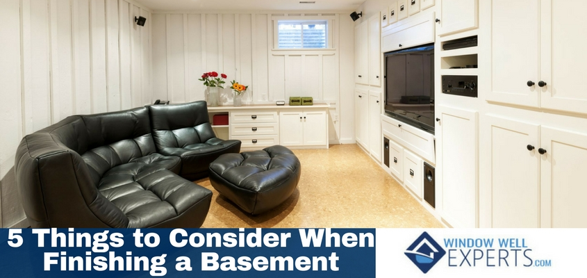 5 Things to Consider When Finishing a Basement