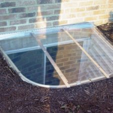 53x38 Egress Kit Complete with White Well and Sloped Cover