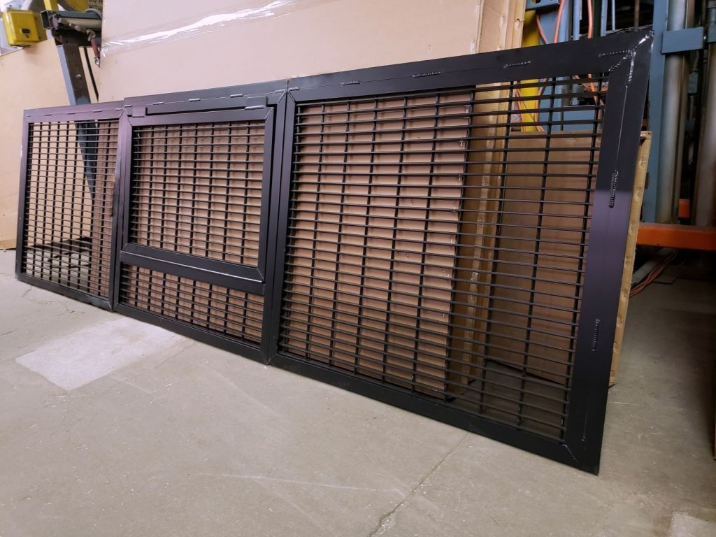 Steel metal bar grating