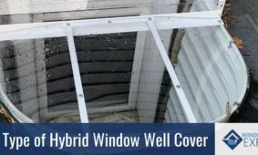New type of HYBRID window well cover