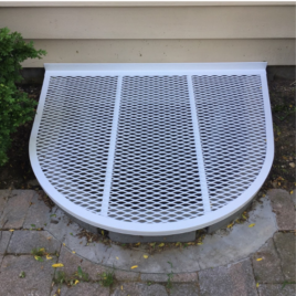 Aluminium Grate with White Powder Coating