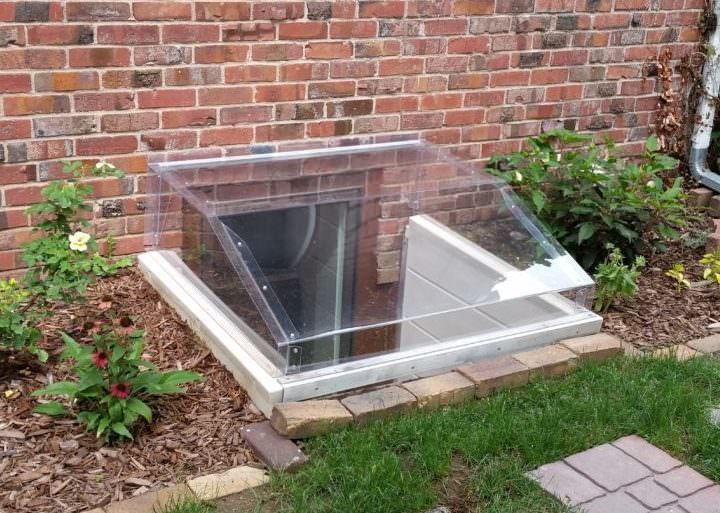 Concrete Well Lids For Wells : Square window well covers made to fit any rectangular shape