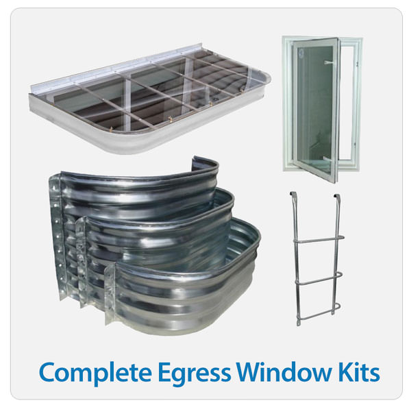 Complete egress window kit