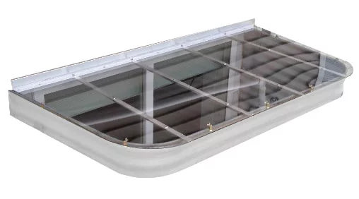 Polycarbonate window well cover