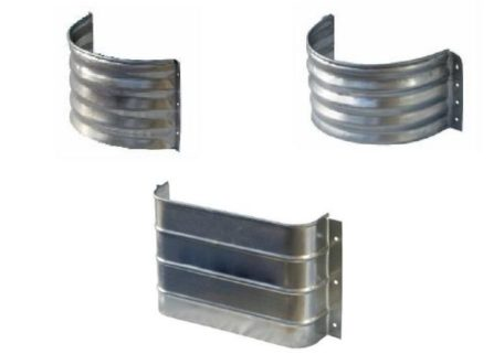 Foundation vent wells in semi-circular and rectangular shapes