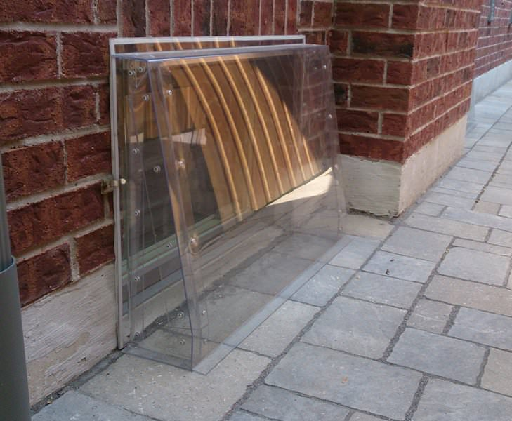 Ground Level Window Cover Unbreakable Polycarbonate