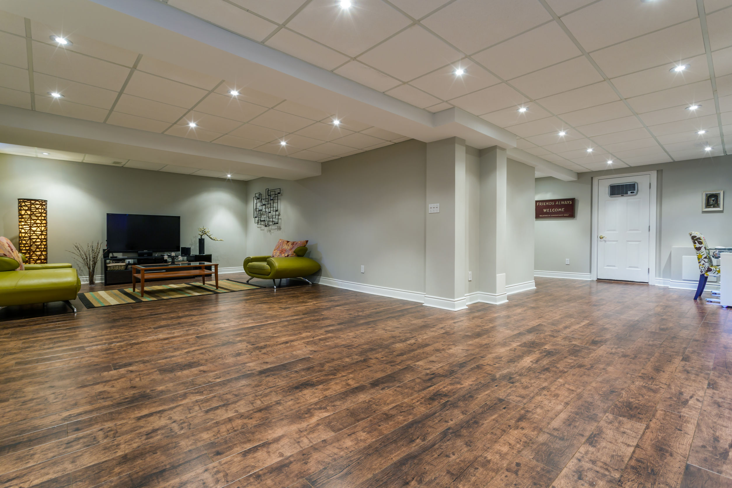 Waterproof Flooring With A Beautiful Wood Look! Yet Another Great Option  When Wanting A Warm Wood Style In Your Basement.