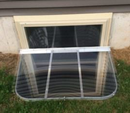 installed window well cover