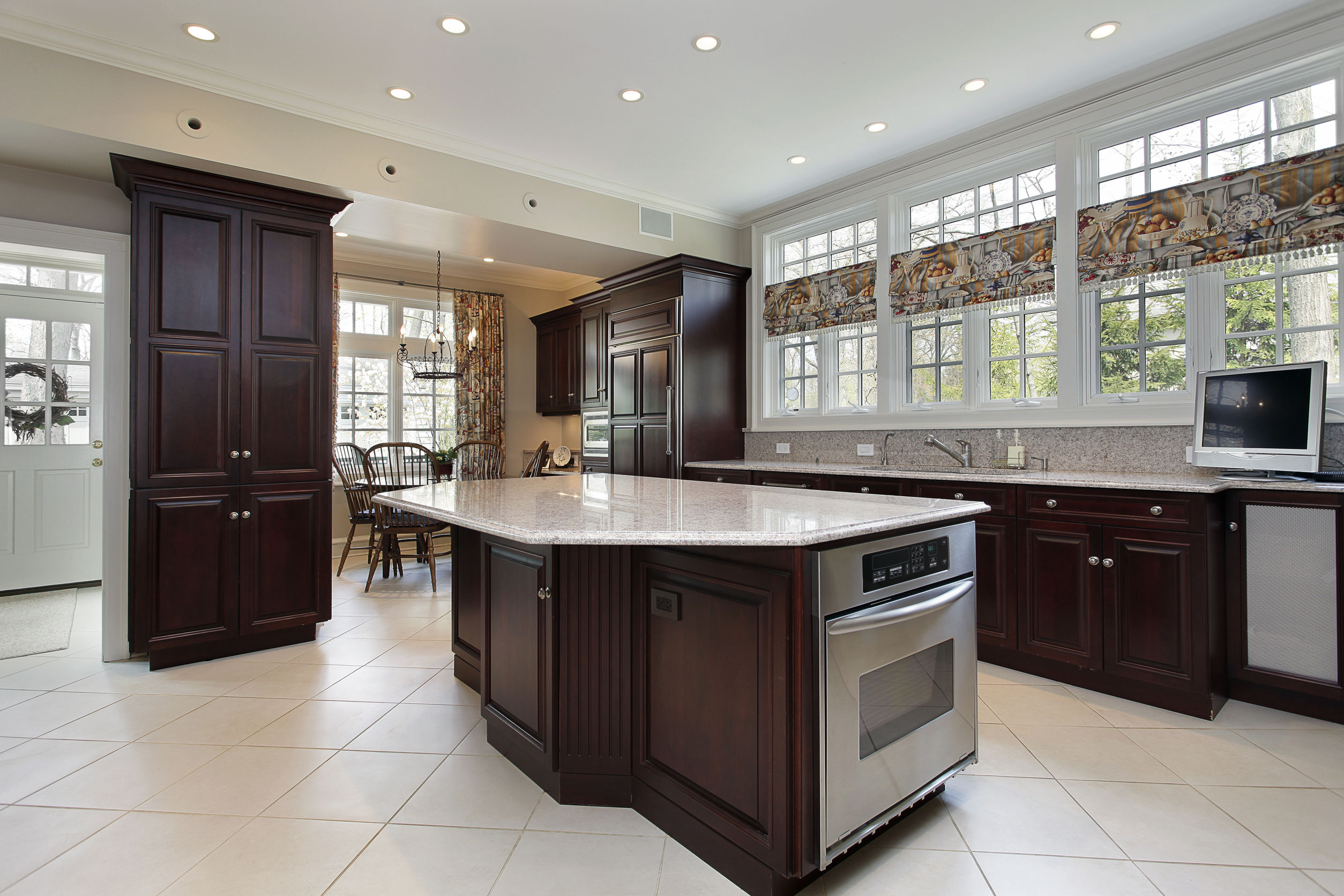 kitchen island, cooking area