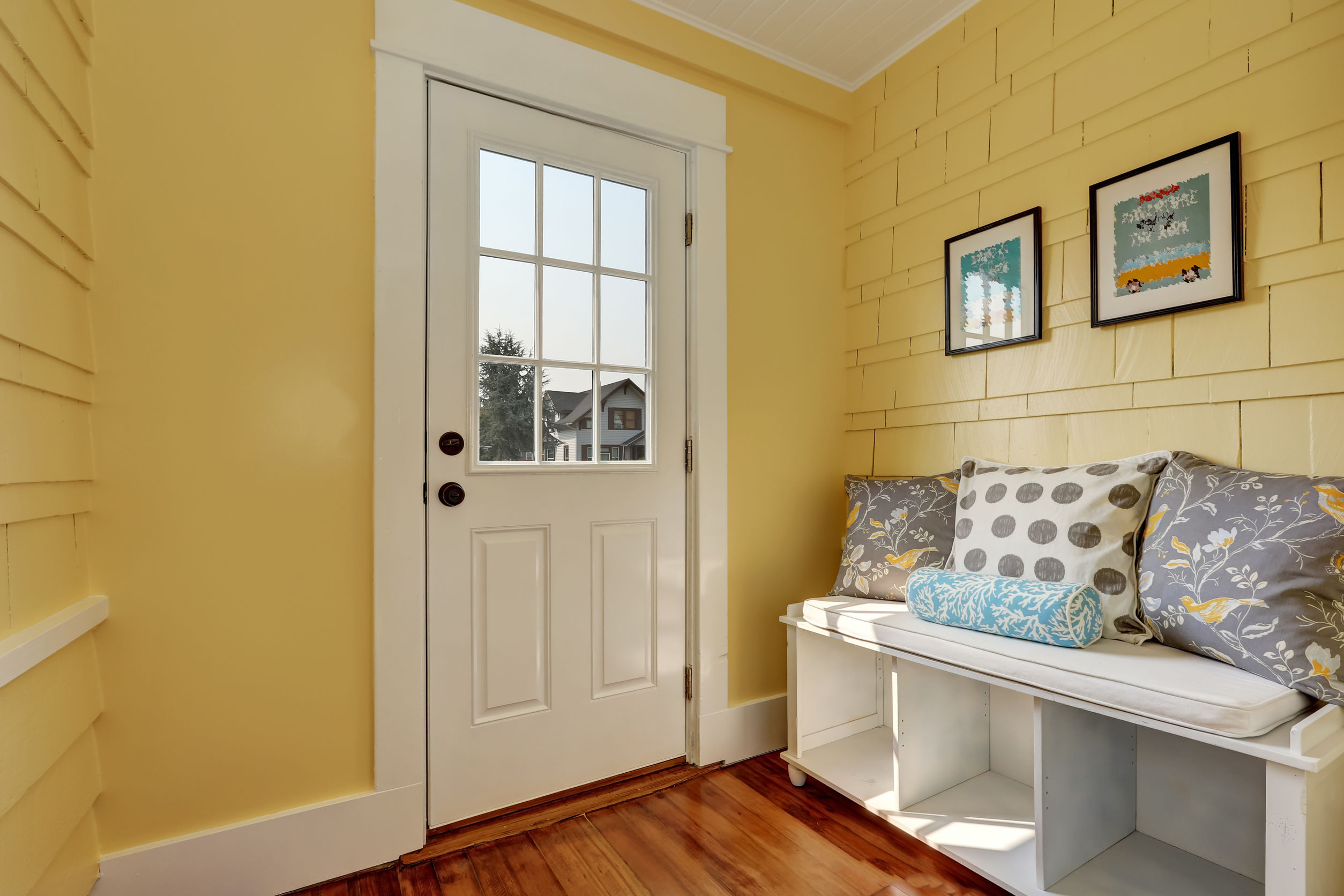 beautiful and purposeful mudroom