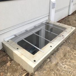 Sloped Window Well Cover for concrete well