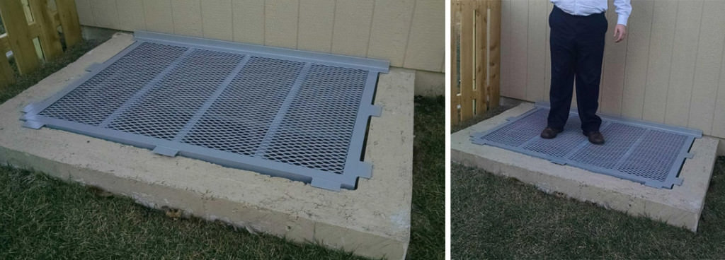 Aluminum Mesh Grate with Grey Powder Coat