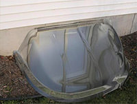 Clear Bubble Style Window Well Cover